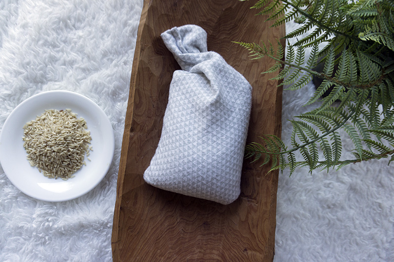 diy rice bag to help with pain - tiny green earthling