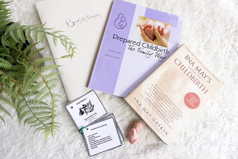 literature and notes to educate yourself for a wonderful natural pregnancy and birth