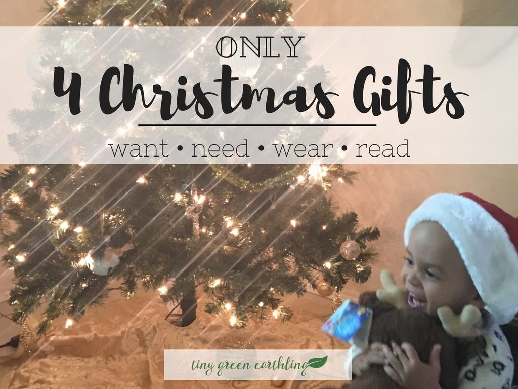 4 Christmas Gifts: Want, Need, Wear, Read - Tiny Green Earthling