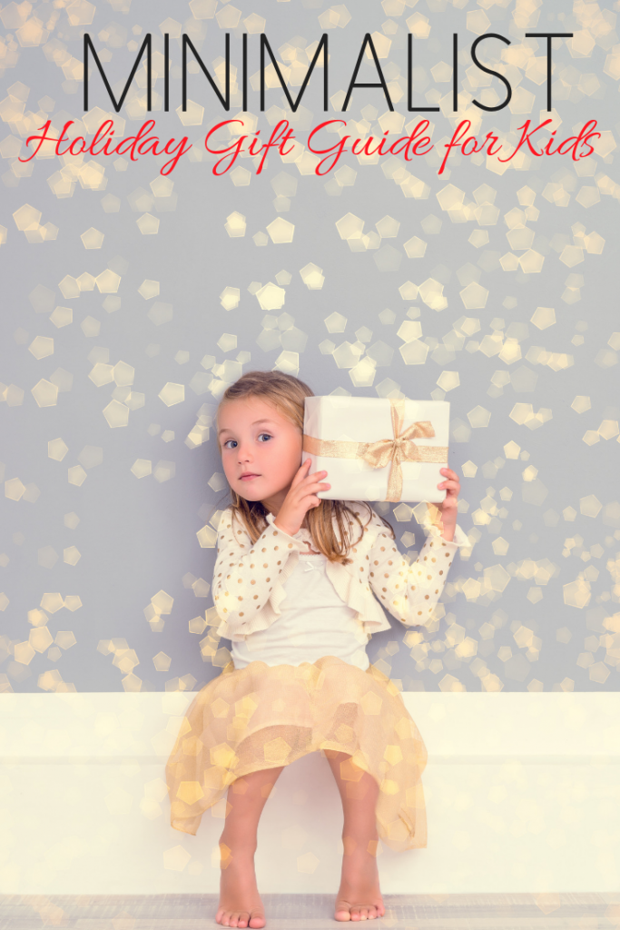 minimalist holiday Christmas guide for kids