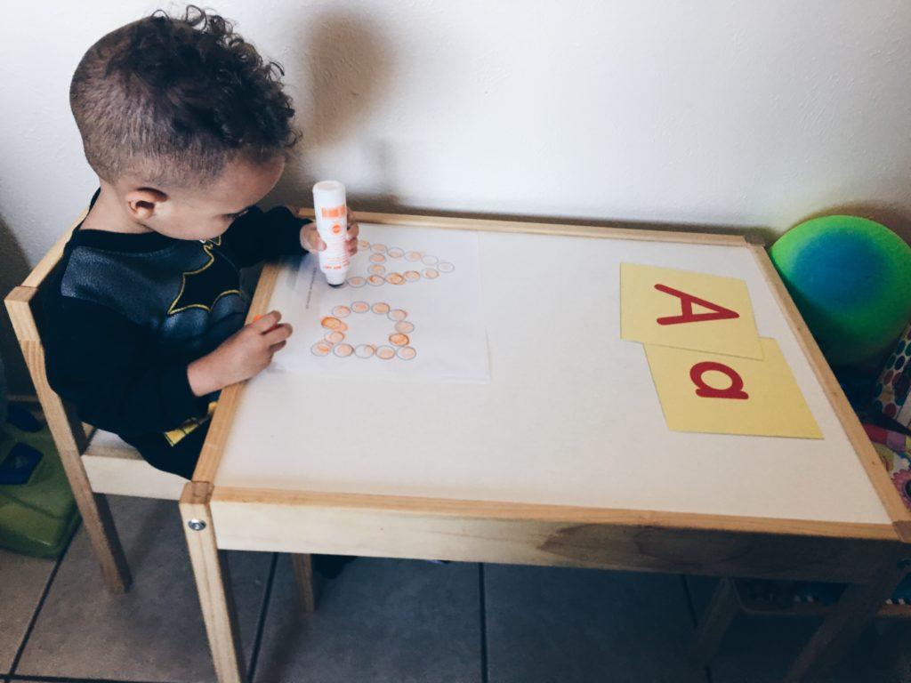 free homeschool printable do a dot alphabet abcs