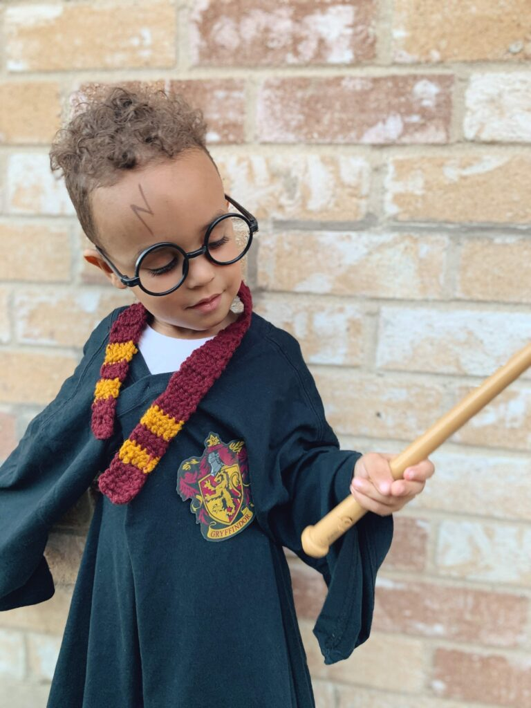 DIY Harry Potter Halloween costume - tiny green earthling
