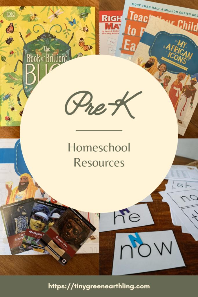 Pre-K Homeschool Resources - Homeschool Curriculum