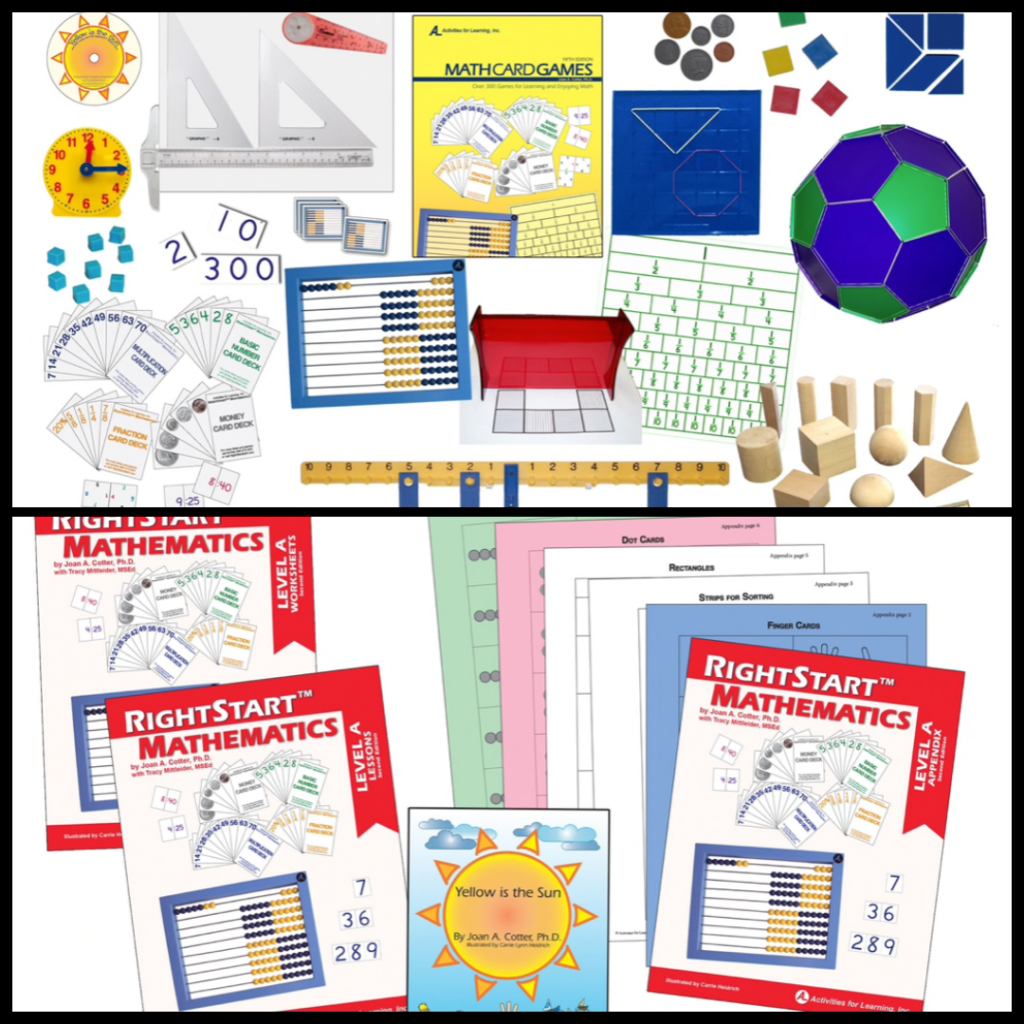 Rightstart Mathematics - Level A Book Bundle and RS2 Math Set