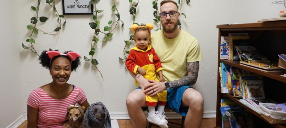 DIY t-shirt cape - toddler halloween costumes