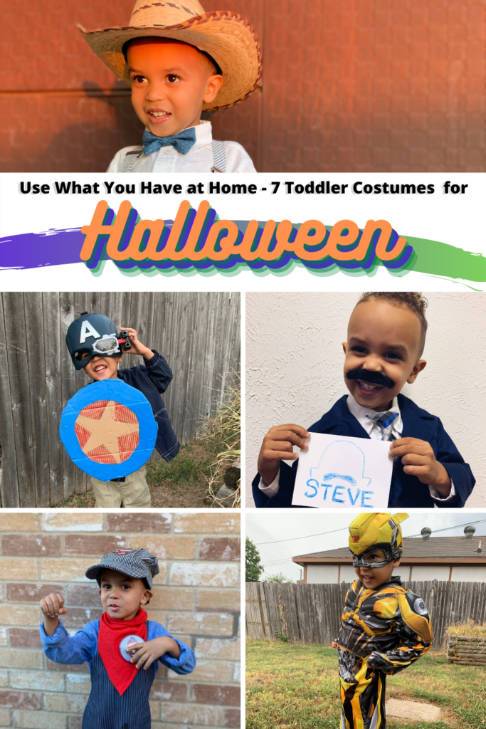 use what you have at home - halloween costumes - tiny green earthling