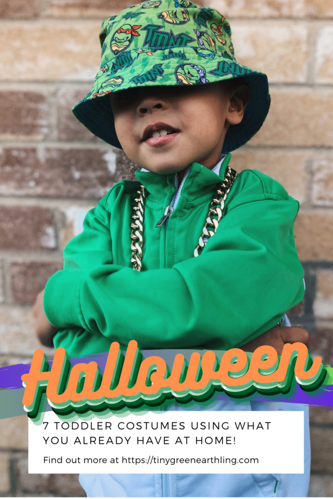 use what you have at home - halloween costumes for toddlers - tiny green earthling